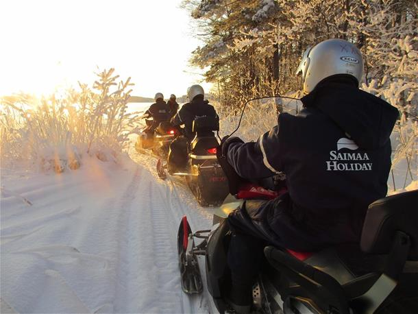 A Fisherman's Day -Snowmobile tour